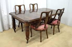 victorian dining table chairs