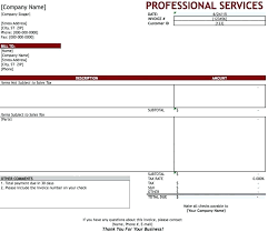Free Template For Invoice For Services Rendered Supreme Receipt