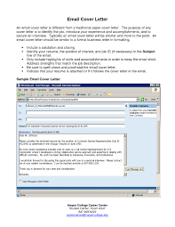 Cover Letter Email Sample Template Resume Builder