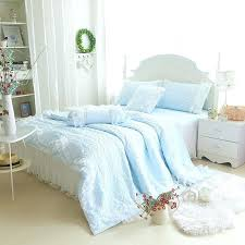 blue ruffle comforter girls sky blue solid tulle ruffle quilt bedding sets baby blue ruffle bedding blue ruffle comforter