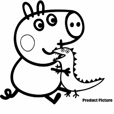 Small Picture Free On Bike Cartoon Peppa Pig Coloring Page Pig On Bike Cartoon