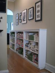 Bookshelves White Horizontal Bookcase Finding Space Hallway Bookcases Room  And