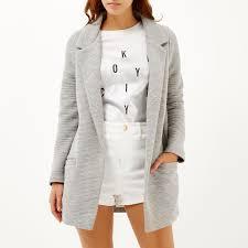 Light Gray Blazer Womens Light Grey Jersey Jacket