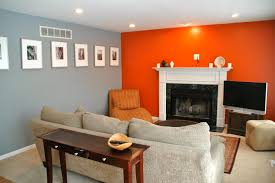 Orange Paint Colors For Living Room Grey Orange Living Room Mine Pinterest Orange Living