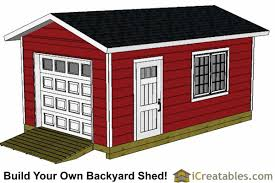12x20 Shed Plans With Garage Door