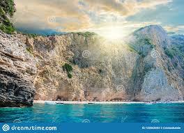 Paradise Beach Of Ionian Sea In Corfu Stock Photo - Image of sunny, greece:  132842054