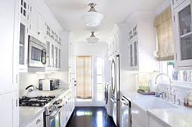 galley kitchen lighting ideas. Image Of Simple White Galley Kitchen Designs Lighting Ideas C