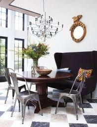 armless metal dining chairs. metal madeleine side chair. house \u0026amp; home october 2011 issue. designer emma kenley created armless dining chairs