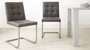 contemporary real leather dining chairs quality leather quilted chairs