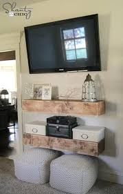wall media shelves free woodworking plans mounted shelf white