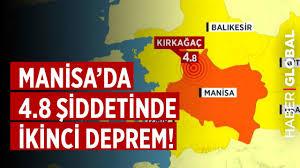 SON DAKİKA! Manisa'da 4.8 Büyüklüğünde İkinci Deprem!
