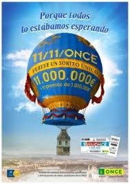Poster anuncio sorteo 11-11-once