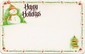 Holidays Snowman Happy Holidays Floral Enclosure Card W Snowman Tree
