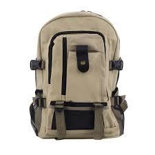 canvas backpack for men faux leather rucksack knapsack satchel school army shoulder rucksack hiking bag