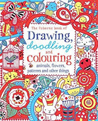 drawing doodling colouring s flowers patterns and other things usborne drawing