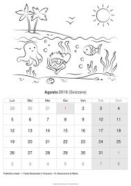 Calendario Agosto 2019 Da Stampare Svizzera