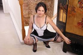 Carlita Johnson milf age 33 dressed as a french maid Free Porn Image
