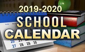 Image result for school calendar 19-20