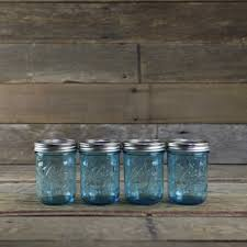 Ball Elite Blue Wide Mouth Pint Canning Jars - Set of 4 - Home Canning  Supplies