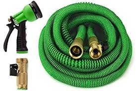 expanding garden hose. GrowGreen Garden Hose 100 Feet Expandable With All Brass Connectors, 8 Pattern Spray Nozzle Expanding -