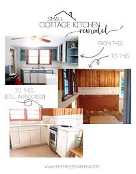 Small Cottage Kitchen Small Cottage Kitchen Remodel The Plumbing Is In Home Made By