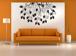 Living Room With White Walls Living Room Wall Art Decals Mahogany Wood Book Rack White Wall