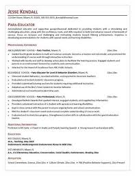 Special Education Paraprofessional Resume