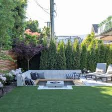 Patio ideas Outdoor Patio Inspiration For Midsized Contemporary Backyard Concrete Patio Remodel In Vancouver With Fire Houzz 75 Most Popular Patio Design Ideas For 2019 Stylish Patio
