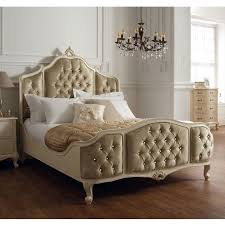 upholstered bed frame. Winsor Rococo Painted Super King Size Upholstered Bed Frame With Swarovski Crystals L
