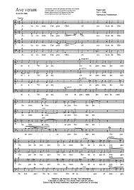 ave verum corpus sheet music ave verum corpus satb voice sheet music cantorion free sheet