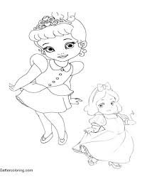 Baby Disney Princess Coloring Pages Awesome Collection Printable 814