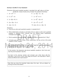 math worksheets solving quadratic equations them and try to solve