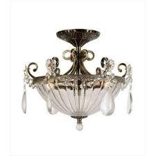 xavier 3 light gold semi flush mount light