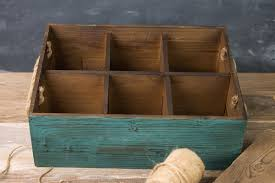 Wooden Crate With Handles Six Slot Wooden Wine Crate With Rope Handles