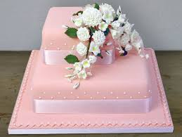2 Tier Pink Cake With Carnations 6lb Sri Lanka Online Shopping