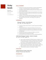 Massage Therapist Resume Samples And Examples Resume Templates