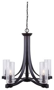 canarm nash 5 light chandelier with seeded glass oil rubbed bronze