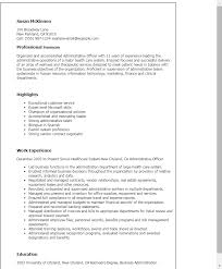 Resume Templates: Administrative Officer