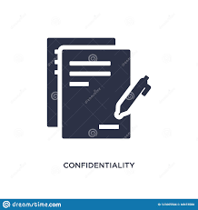 Web Design Confidentiality Agreement Confidentiality Agreement Icon On White Background Simple