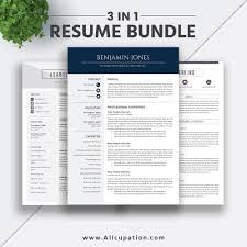 2019 Best Selling Resume Bundle The Benjamin Rb Editable Resume Template Word Cv Bundle Cover Letter Student Resume Professional Resume Instant
