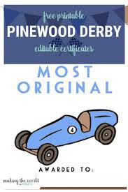 Free Design Templates For Pinewood Derby Cars Pinewood Derby Certificates