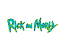 logo rick y morty png - Sticker by Oscar narvaez