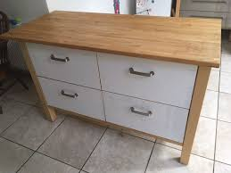 large ikea varde freestanding kitchen drawer unit solid beech top