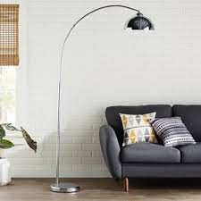 Overhanging Floor Lamp Modern Wayfair Karlin Chrome Arched Floor Lamp Lamps Youll Love