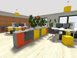 open office layout in 3d