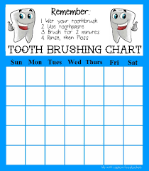 Teeth Cleaning Chart Free Print Out This Free Tooth Brushing Chart To Help Kids