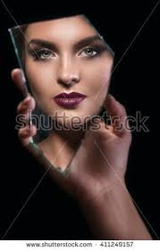 woman holding hand mirror. Hand Holding A Splinter Of Mirror With Female Face In Reflection Woman M