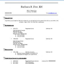 Resume And Cover Letter Free Nursing Resume Templates Sample