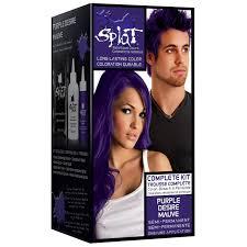Splat Hair Dye Color Chart Splat Rebellious Colors Semi Permanent Hair Dye Purple Desire