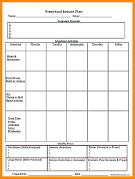 024 Printable Lesson Plan Template Free Verypage Co